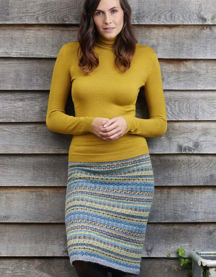 Fair Isle skirt knitting pattern free