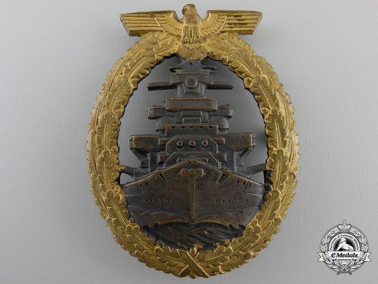 A Kriegsmarine High Seas Fleet Badge by Schwerin, Berlin   eMedals