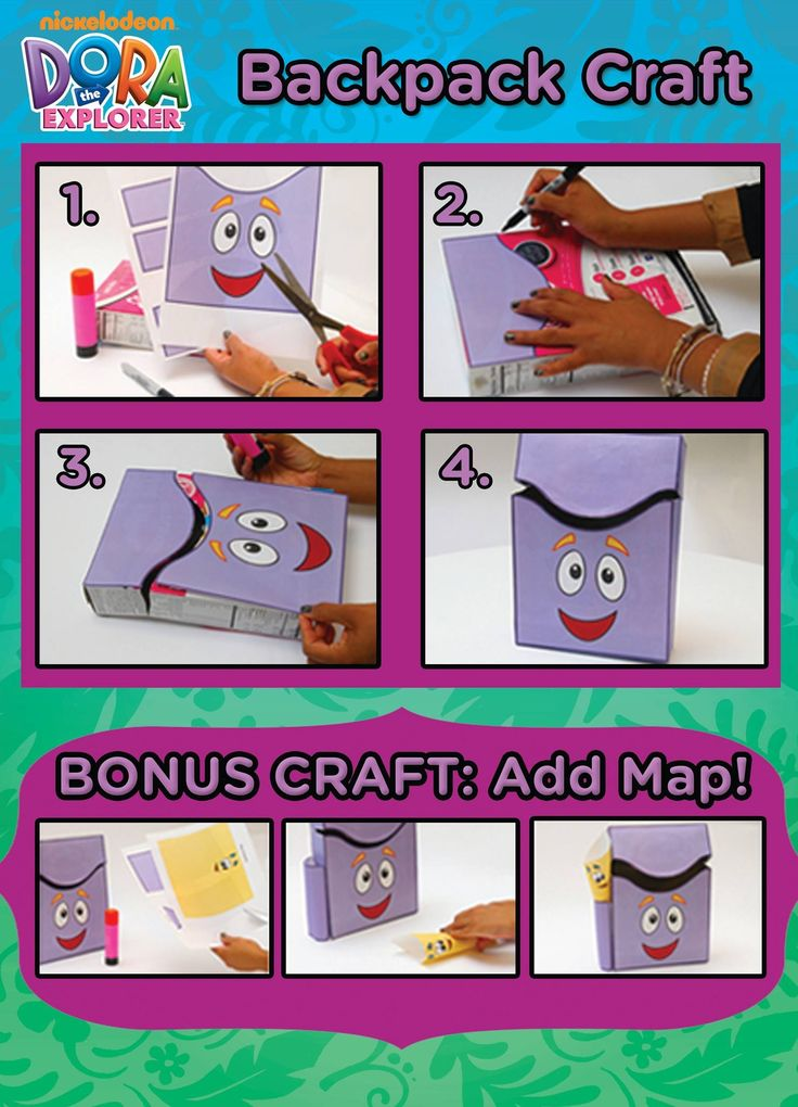 BACKPACK CEREAL BOX CRAFT Turn a cereal box into a cute storage box ...