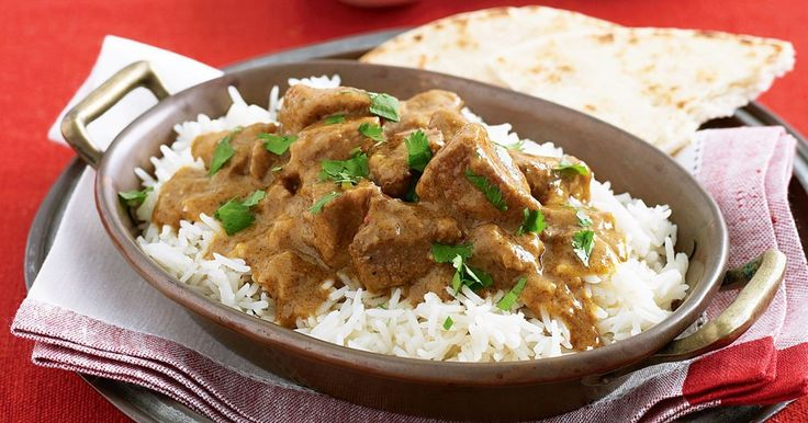 This spicy lamb curry is best prepared in a slow cooker.