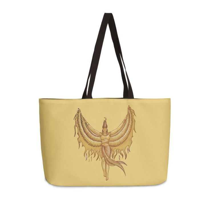 Isis, Goddess Egypt with wings of the legendary bird Phoenix by #beatrizxe   #threadless #bag #tote #toteBag Illustration of a woman that represented to Isis, a godness of the ancient Egipt. #God #Goddess #Egipt #Isis #wing #wings #bird #legendary #Phoenix #Illustration #woman #egyptian #traditional #digital #fire #ink #color #drawing #vintage #papyrus #pharaoh #mythology #sketch #ancient #historical
