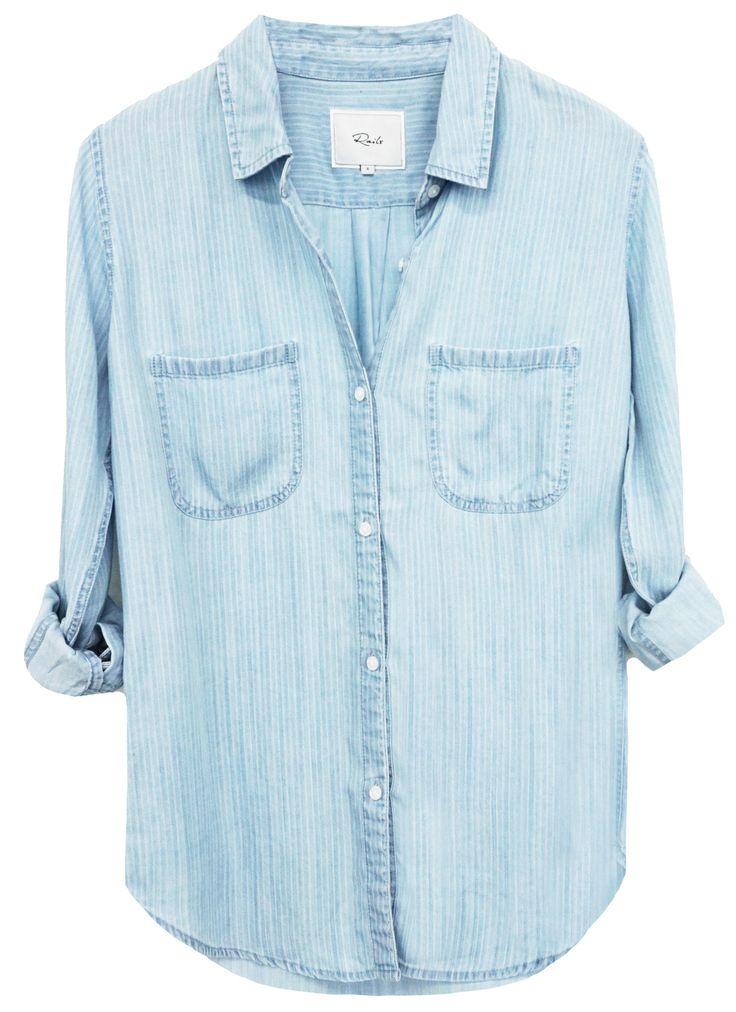 Rails - Carter Railroad Stripe Denim Shirt