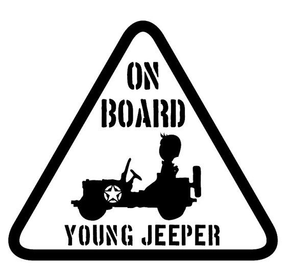 young jeeper on board  jeep decal