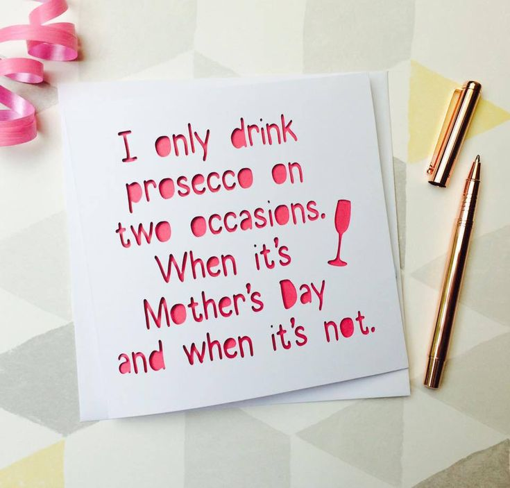 mother's day card, funny mother's day card, prosecco card, mother's day prosecco, card for mum, mum mother's day, funny mum card, funny card by AprilDaysDesigns on Etsy