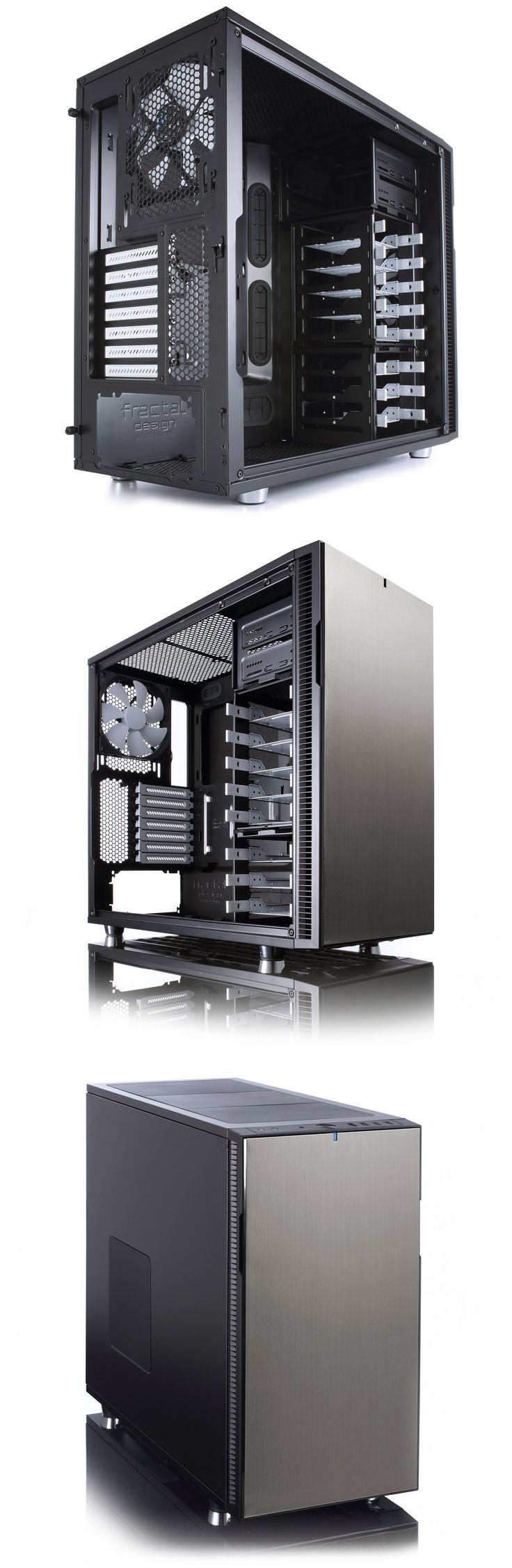 Fractal Design Define R5 Mid Tower Titanium [FD-CA-DEFR5-TI] : PC Case Gear
