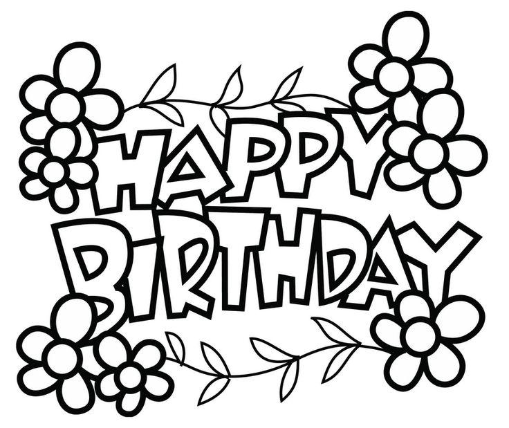 printable coloring pages happy birthday happy birthday