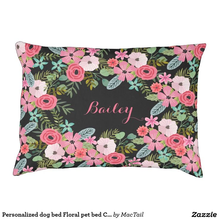zazzle wedding invitations promo code%0A Personalized dog bed Floral pet bed Custom dog bed