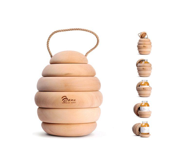 bzzz honey packaging by backbone studio