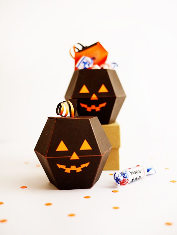 Printable Spooky Pumpkin Boxes   Oh Happy Day!   Bloglovin'