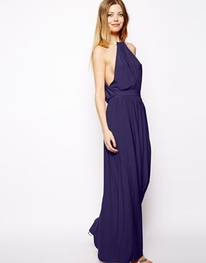 ASOS Maxi Dress With Embellished Necklace