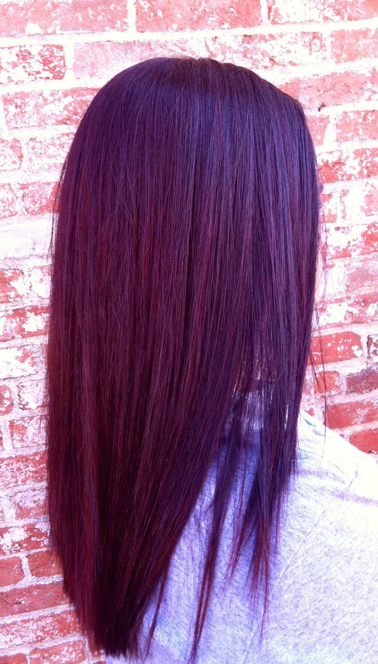 Kenra Color 4rr, 6r and red booster. Beautiful shine and amazing color! #