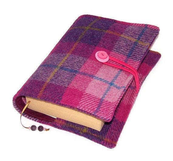 Would be nice - Book Cover Harris Tweed (http://www.etsy.com/uk/listing/154785509/book-cover-harris-tweed-sunset-pink)