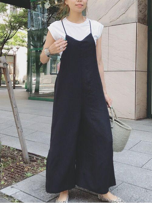 白×黒×レオパード   見えないけどバックデザインに大きなリボンが   シンプルだけどアクセントあるオールインワン♡   Instagram→mailifemai