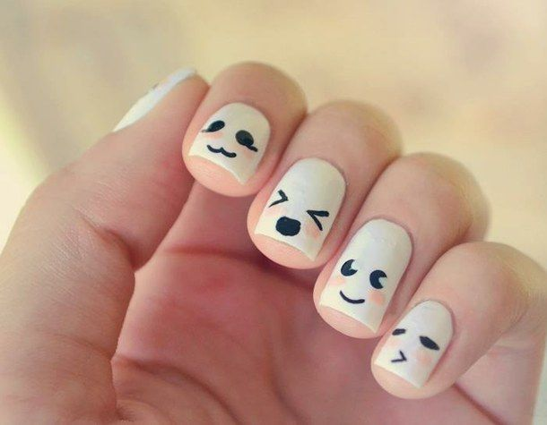 Cute faces nails