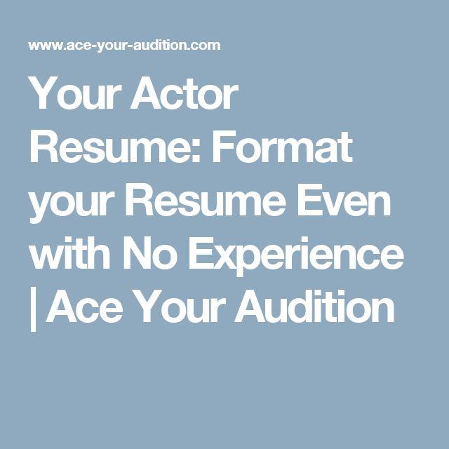 51 best Auditioning\/Resumes images on Pinterest College tips - singer resume