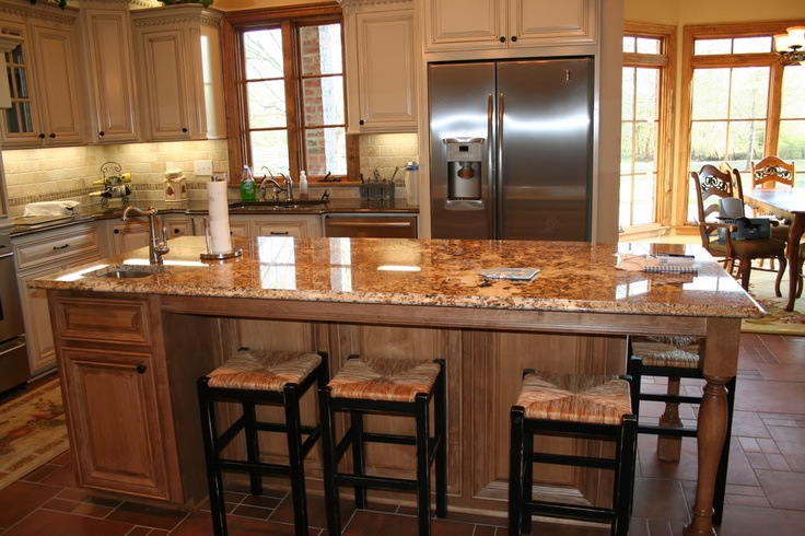 Island seating kitchen islands pinterest - Kitchen island with seating for 6 ...