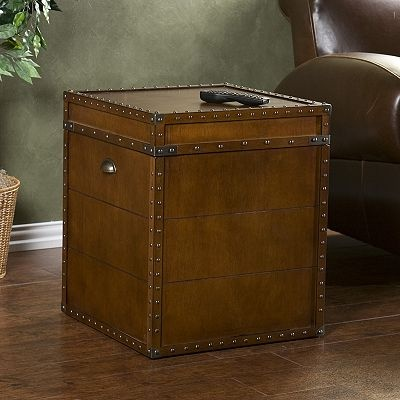 Wonderful This End Table From Kohls Looks Just Like An Antique Trunk.