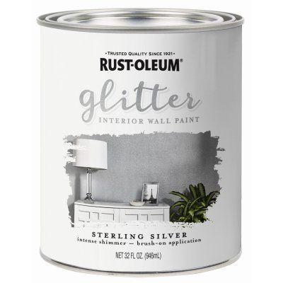 Rust-Oleum Glitter Brush-on Paint, Silver, Qt.: Model# 323858 | True Value #GlitterPaint