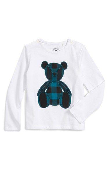 Burberry Bear Applique Long Sleeve T-Shirt (Toddler Boys)