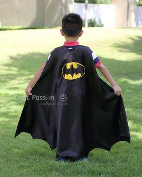 Você pode até ganhar um bom dinheiro confeccionando esta capa infantil do Batman (Foto: craftpassion.com)