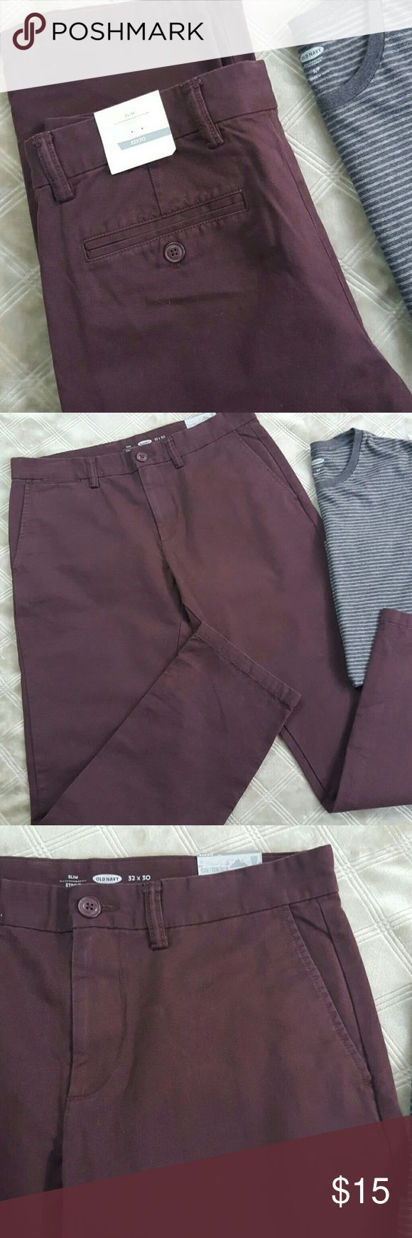 NWT Old Navy Plum Pants Slim Cut 32x30 New. Old Navy Pants Chinos & Khakis