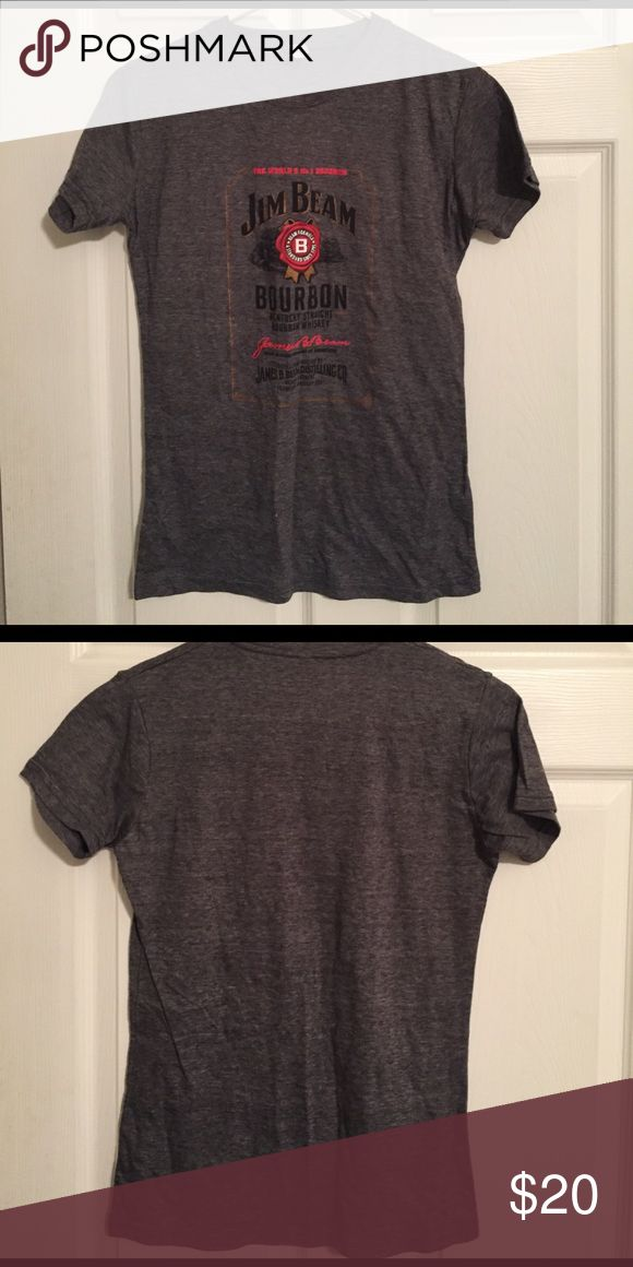 Jim Bean tshirt Women's Tshirt. Jim bean whiskey logo. Size Medium. Tight fit. Excellent condition! Tops Tees - Short Sleeve