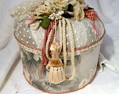 Vintage Hat Box with Ribbon