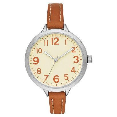 Women's Skinny Strap Watch - Brown