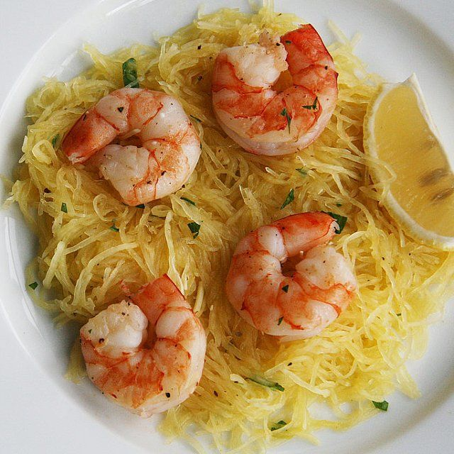 A Low-Carb, Gluten-Free Alternative to Shrimp Scampi and spaghetti squash