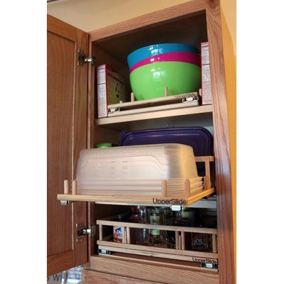 Increase the usable storage space of the existing cabinets in your kitchen, bathroom, laundry room, linen closet or garage by installing poly-urethane coated Baltic Birch slide-out shelf. You will never again have to bend or stoop or get on your hands and knees to reach items you store. With full extension, heavy-duty ball bearing slides, your cabinet contents slide smoothly out for easy access to. They utilize dado, rabbet joint construction for superior strength, and are maintenance free…
