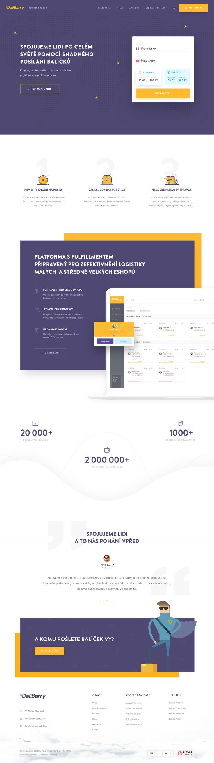 Homepage -Delibarry //  #WebDesign #GraphicDesign #Inspiration