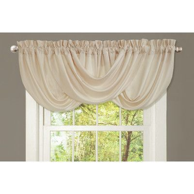 Lush Decor Lucia Synthetic Rod Pocket Swag Curtain Valance | Wayfair                                                                                                                                                                                 More