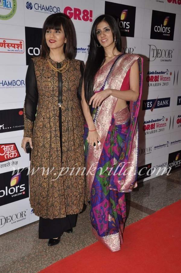 Lovely print saree with a nice border. Nishka Lulla