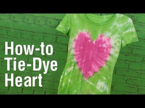 How-To Create a Heart Design Tie Dye T-Shirt!, My Crafts and DIY Projects