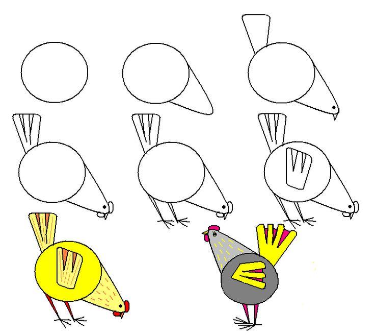 Рассказывание о птицах и рисование шаг за шагом