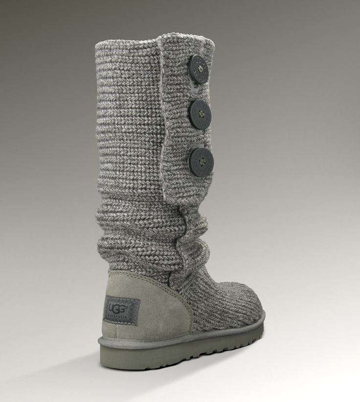 UGG® Classic Cardy - Crochet Knit Boots in Grey or Port from UGGAustralia.com in size 6 - $150.00