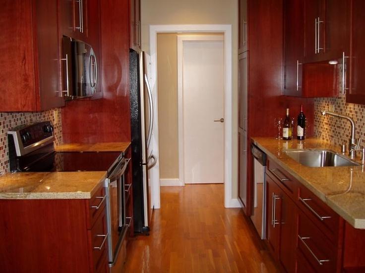 54 best galley kitchen images on pinterest kitchen for Galley kitchen backsplash ideas