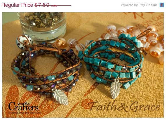 Faith & Grace Triple wrapped by WackyCrafters, $7.50