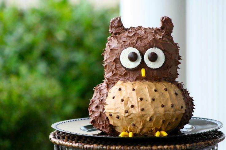 Simple Owl Birthday Cake