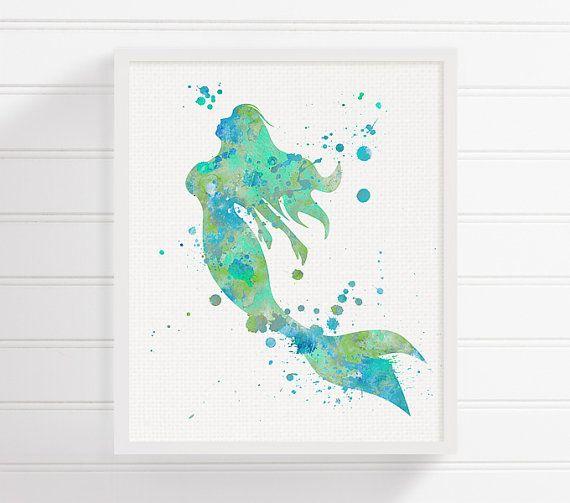 Delicieux Watercolor Mermaid, Mermaid Art Print, Mermaid Painting, Mermaid Wall Art, Mermaid  Wall