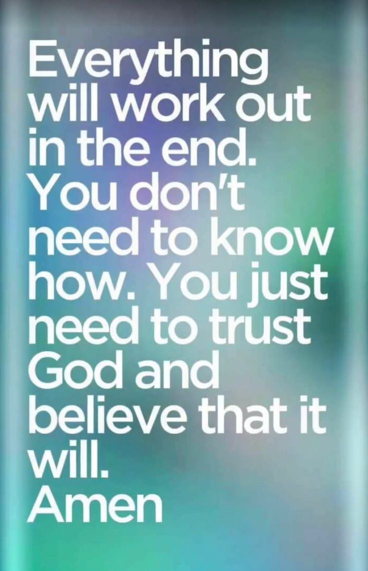 Trust In God. Amen...Mildred Williams Thank You God !!!