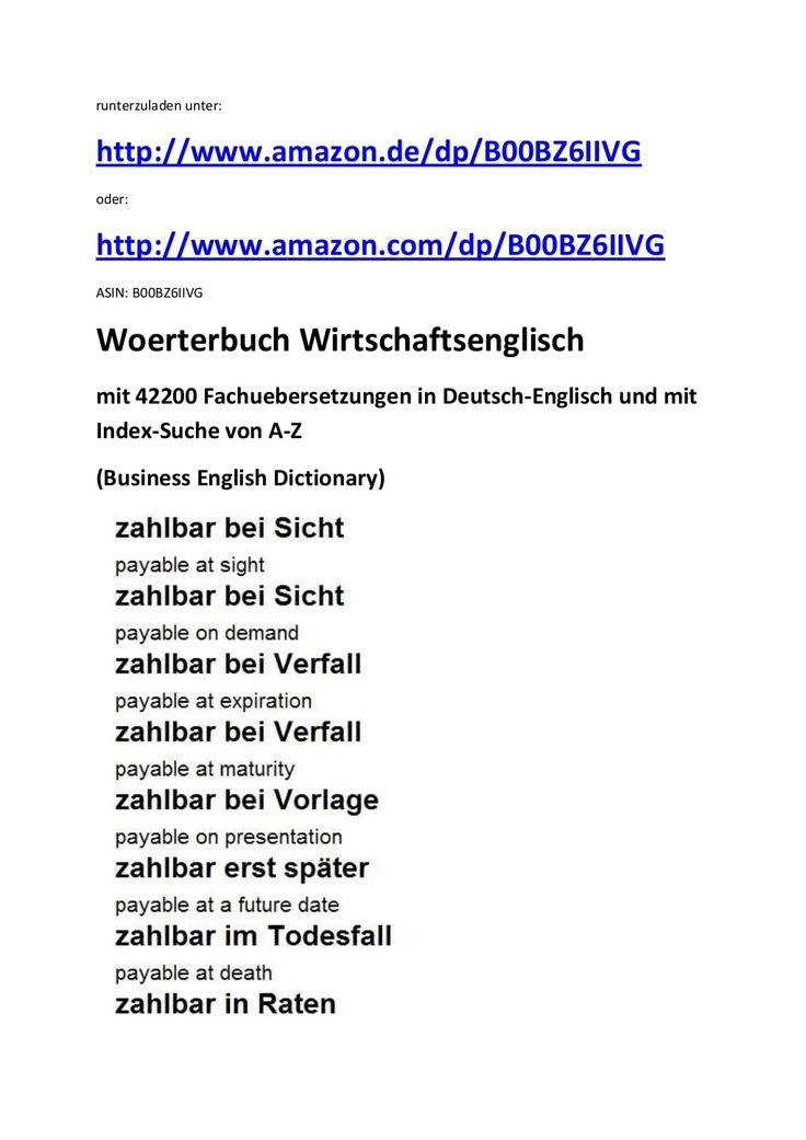 Markus Wagner  Leseprobe zur vokabelliste a - z: wirtschaftsdeutsch-englisch (business german-english glossary)