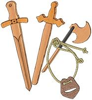 Bauanleitungen für Ritterwaffen aus Holz