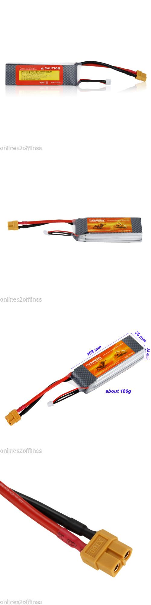 Telephone Batteries: 2Pcs Rechargeable 11.1V 2200Mah Lipo Battery Xt60 25C For Rc Helicopter Airplane BUY IT NOW ONLY: $35.99