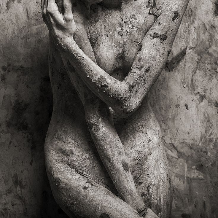 Buy Silence - Art nude, Black and white photograph (giclée) by Peter Zelei on Artfinder.