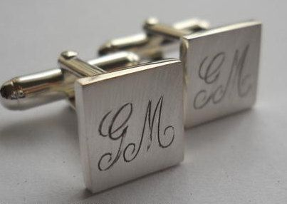 cuff links engraved cufflinks groomsmen gifts by hellothula, $79.50
