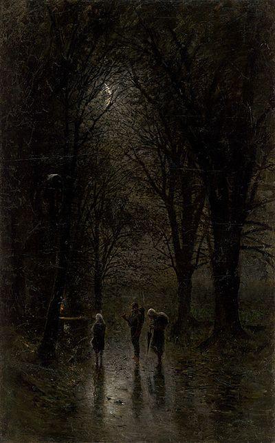 Noční pútnici pri kríži | Ladislav Mednyánszky |  1880/1882 | Slovak National Gallery | Public Domain