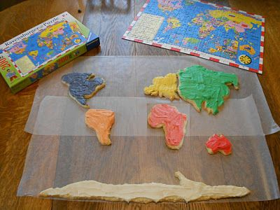 World Map - Cookies and Puzzle