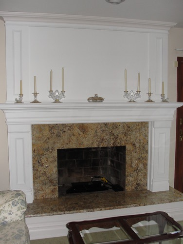 i like lake the big mantel combined with the granite combined with the upper mantel
