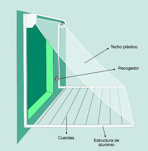 Tendal permite secar ropa en la ventana sin que se moje por la lluvia